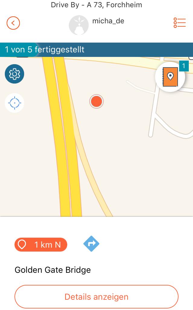 Adventure Lab App: LabCache auf der Karte